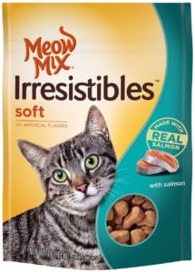 Meow Mix Irresistibles Soft Cat Treats with Real Salmon