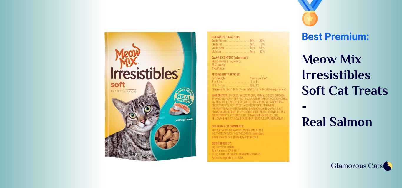 Meow Mix Irresistibles Soft Cat Treats with Real Tuna
