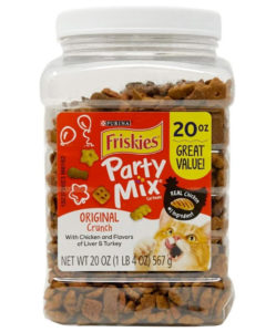 Friskies Party Mix Adult Cat Treats Canisters