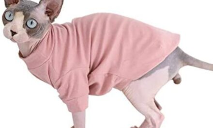 Sphynx Hairless Cat Cotton Tshirts Pet Clothes, Pullover Kitten T-Shirts with Sleeves, Cats & Small Dogs Apparel Solid Color