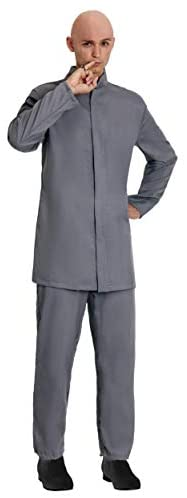 Adult Deluxe Grey Suit Costume Evil Man Suit Outfit