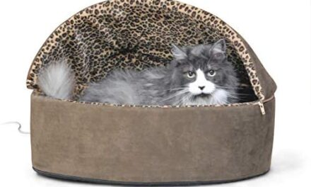 K&H PET PRODUCTS Thermo-Kitty Deluxe Hooded Cat Bed