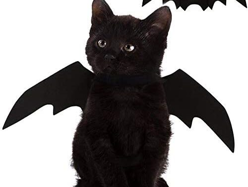 Nigua Pet Cat Bat Wings for Halloween, Cosplay Bat Wing Costume Decoration for Puppy Dog Cat