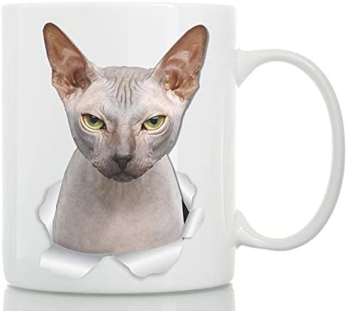 Grumpy Sphynx Cat Mug – Canadian Sphynx Cat Ceramic Coffee Mug – Perfect Sphynx Cat Gifts – Funny Sphynx Cat Coffee Mug for Cat Lovers (11oz)