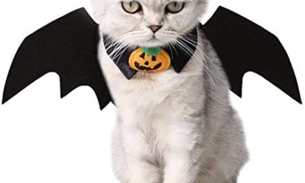 Vikedi Cat Halloween Costume with Cat Collar Bow Tie, Cat Bat Wings for Halloween Party Cosplay Decoration, Pet Costumes Apparel for Cat Small Dogs