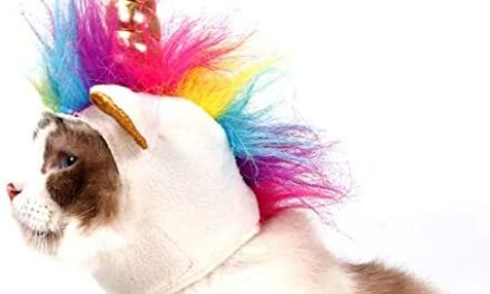 NACOCO Cat Unicorn Hat with Ear Hole for Small Dogs Puppy, Cat Costume Accessory for Halloween, Cosplay Mane Cap