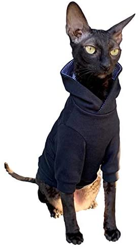 Kotomoda Sphynx Cat's Hoodie InBlack Naked Cat Hairless Cat Clothes
