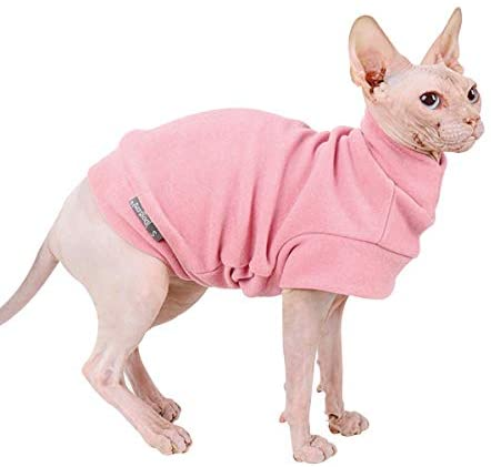 Small Dogs Fleece Dog Sweatshirt – Cold Weather Hoodies Spring Soft Vest Thickening Warm Cat Sweater Puppy Clothes Sweater Winter Sweatshirt Pet Pajamas for Small Dog Cat Puppy