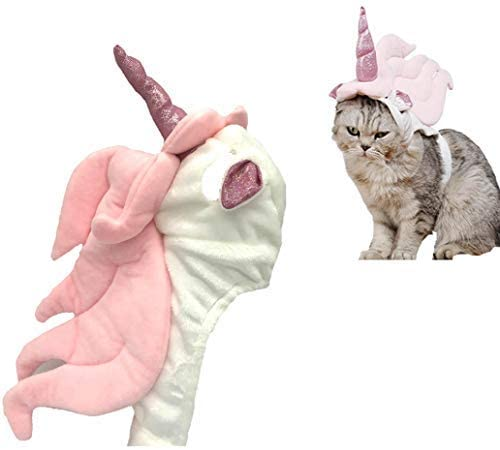 Lanyarco Cute Unicorn Costume Halloween Accessory for Cats Small Pets
